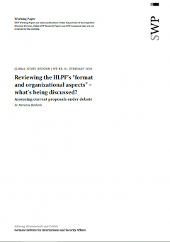 "Reviewing the HLPF's ""format and organizational aspects"" – what's being discussed?"